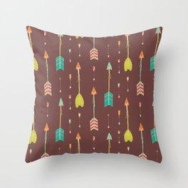 Bohemian hand drawn arrows, 02 Throw Pillow