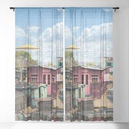 Squat New Age Sheer Curtain
