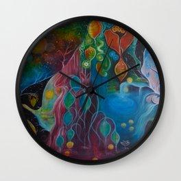 """""""Where the magic begins"""" original painting by Katrina Koltes Wall Clock"""