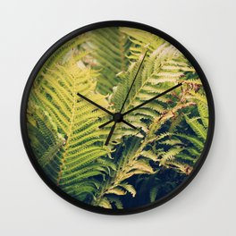 Botanical Garden Ferns Wall Clock