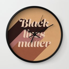 Black Lives Matter #typography Wall Clock