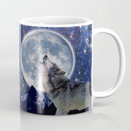 A One Wolf Moon Coffee Mug