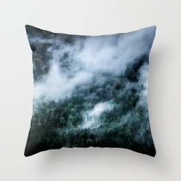 Foggy Mornings in the Mountains 4x6 Throw Pillow