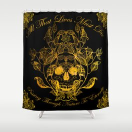 All That Lives Shower Curtain