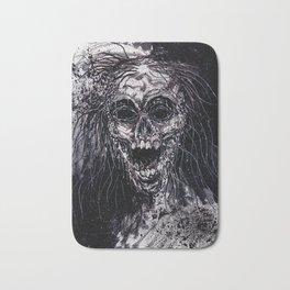 Dark Horror Zombie Black And White Art Bath Mat