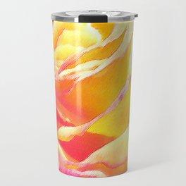 Love and Peace Pastel Rose Travel Mug