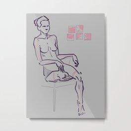 Seated Woman Metal Print