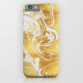 White Dragon Marble iPhone Case