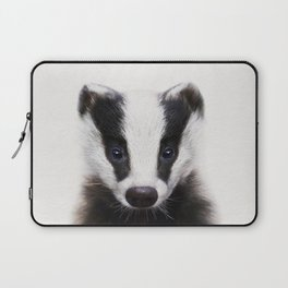 Baby Badger, Baby Animals Art Print By Synplus Laptop Sleeve
