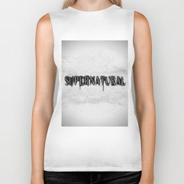 Supernatural monochrome Biker Tank