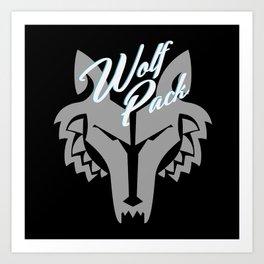 Star Wars The Clone Wars Wolf Pack Art Print
