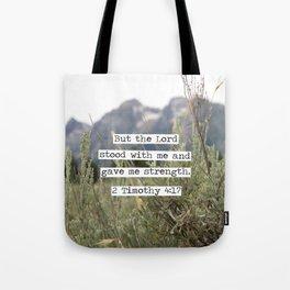 2 Timothy 4:17, Grand Teton Tote Bag