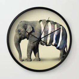 Inner Space Elephant Wall Clock
