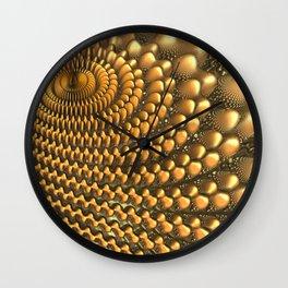 Gold 3D Fractal Wall Clock