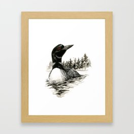 North Shore Loon Framed Art Print