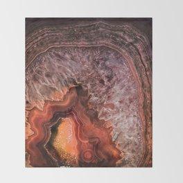 Copper Brown Agate Mineral Gemstone Geode Throw Blanket