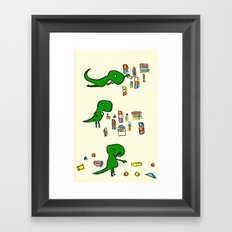 Tim the T Rex Framed Art Print