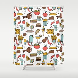 Food Frenzy white #homedecor Shower Curtain