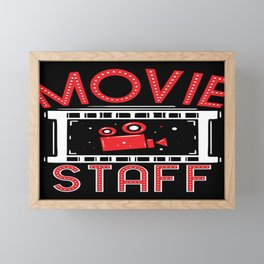 Movie Staff - Watching Movies Gift Framed Mini Art Print