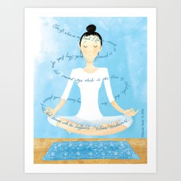 Meditating Woman Art Print