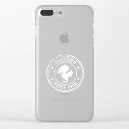 Chocobo since 1988 - Final Fantasy (White version) Clear iPhone Case