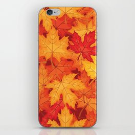 Autumn leaves #10 iPhone Skin