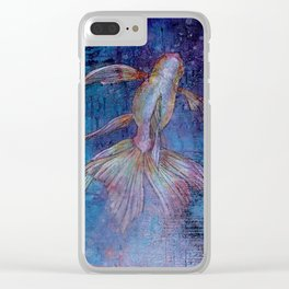 Indigo Goldfish Clear iPhone Case