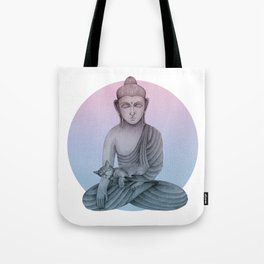 Buddha with cat1 Tote Bag