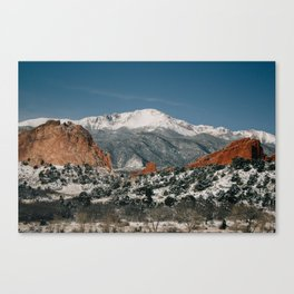 Snowy Mountain Tops Canvas Print