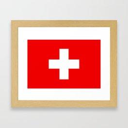 Flag of Switzerland 2x3 scale Framed Art Print