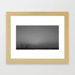 PARIS pink sunset black and white with color pink Framed Art Print