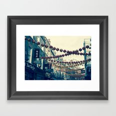 London Chinatown Framed Art Print