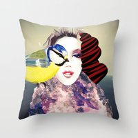 no face Throw Pillows featuring Face by Cs025