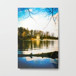 Möhne Reservoir Lake Tower bright Metal Print