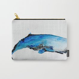 Whale Watercolor, Whale Art, Coastal Decor, Nautical Decor,  Nursery Carry-All Pouch