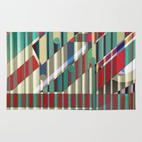industrial Area & Throw Rugs featuring Industrial Delusions by Fernando Vieira