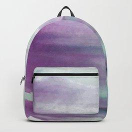 Purple green watercolor swash Backpack