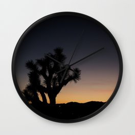 Joshua Tree Silhouette Wall Clock