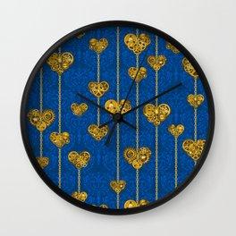 SteamPunk Love / Blue Wall Clock