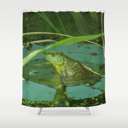 Frog Photography Print Shower Curtain
