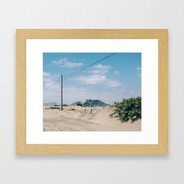 Over the Dunes Framed Art Print
