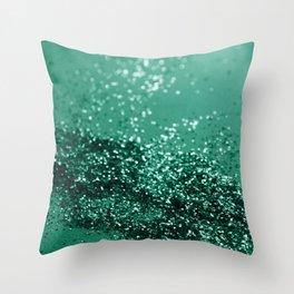 Sparkling EMERALD Lady Glitter #1 #shiny #decor #art #society6 Throw Pillow