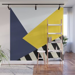 Bold Yellow Memphis Triangle Wall Mural