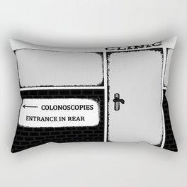 Colonoscopy Colonoscopies Entrance at Rear Funny Cartoon Illustration Rectangular Pillow