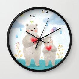 warm heart Wall Clock