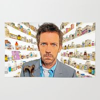 house md Area & Throw Rugs featuring House MD - Colored Pencil Sketch Style by ElvisTR