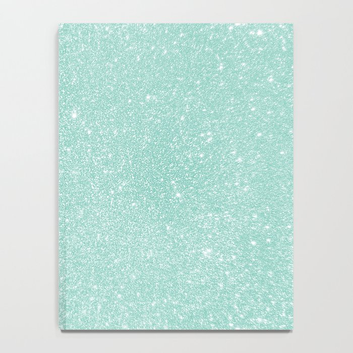 Pastel Turquoise Glitter Notebook