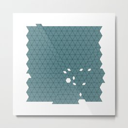 #426 Tectonic activity – Geometry Daily Metal Print