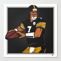 steelers Canvas Prints featuring Big Ben - Steelers QB by lockerroom51