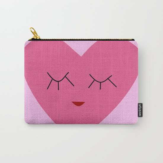 valentines heart pink Carry-All Pouch